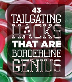 41 Tailgating Tips That Are Borderline Genius - Someday, LA will have an NFL team. Someday, I'll get to use this. 41 Tailgating Hacks That Are Bo - # Football Tailgate, Football Food, Football Season, Tailgate Games, Football Parties, Easy Tailgate Food, Tailgate Drinks, Tailgate Parties, Picnic Parties