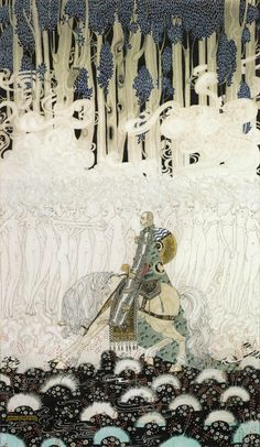 """zombienormal: """" Sir Olaf in a kingdom of wraiths and ghosts. Kay Nielsen (1896-1957) watercolor for In Powder and Crinoline, 1913. """""""