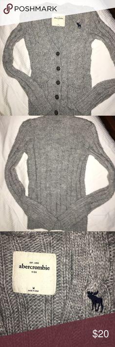 Abercrombie Girls Gray Cardigan sweater Abercrombie Girls Gray Cardigan sweater. Excellent condition. abercrombie kids Shirts & Tops Sweaters