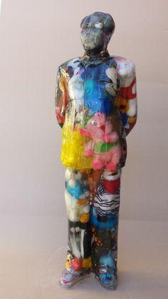 ALBEN, Mao debout - Peluches, 98 x 30 x 30 cm, inclusion résine