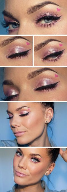 """Today's Look - """"Cupid"""" -Linda Hallberg (a very sophisticated smokey eye in its simplicity, a royal blue, gray, and a hint of peach. Really brings out hazel/ brown eyes Navy/peach- love it! Sultry Makeup, Hazel Eye Makeup, Eye Makeup Tips, Hazel Eyes, Love Makeup, Makeup Tools, Skin Makeup, Beauty Makeup, Makeup Ideas"""