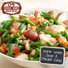 Warm Green Bean & Potato Salad Recipe from Taste of Home