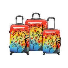 Amazon.com: Sunset Tree 3 Piece Luggage Set: Clothing
