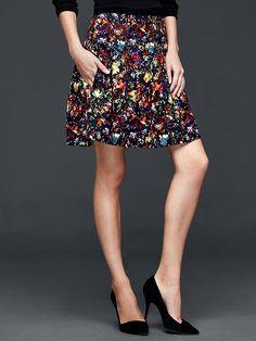 Confetti pleat skirt