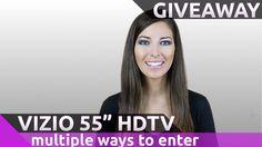 "Win A Free Vizio 55"" 4K Ultra Smart HDTV @CurvedView"