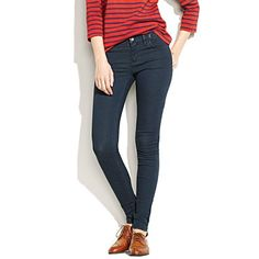 mmm. Love this! stripes, skinnies, oxfords.