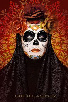 Dia de Los  muertos sugar skull by dottphotography.com