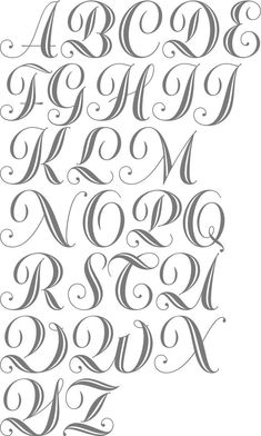 Abc Designs Dalmatiano Initials Polices de broderie machine à dessin Schriften - Zeichnen - Tattoo Alphabet Graffiti, Graffiti Lettering Fonts, Tattoo Lettering Fonts, Creative Lettering, Lettering Styles, Calligraphy Fonts, Copperplate Calligraphy, Penmanship, Script Fonts