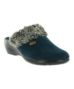 Another great find on #zulily! Blue Alondra Mule by Fly Flot #zulilyfinds