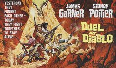 """Poster for """"Duel at Diablo"""" by Frank McCarthy, 1966"""