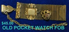 oLD POCKET WATCH FOB by PetiesPorch on Etsy