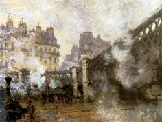 Monet, 1877, Gare Saint Lazare