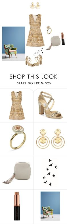 """""""Untitled #5237"""" by ayse-sedetmen ❤ liked on Polyvore featuring Alice + Olivia, Jimmy Choo, Kenneth Jay Lane, AllSaints, Anastasia Beverly Hills and Anthropologie"""