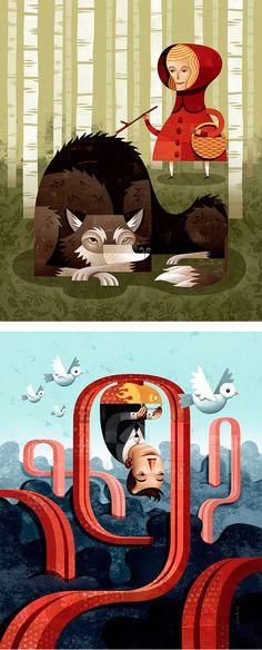 Editorial Illustrations by Jon Reinfurt
