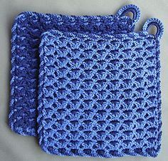 Anleitung: Topflappen Hot and Cold (Potholders: The Google translation butchered this pattern. CBS)