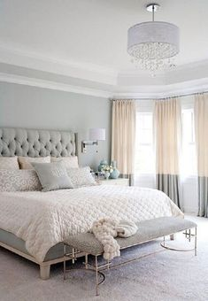 Home Decor Ideas Gray white and tan bedroom decor bedroom Master Bedroom Design Inspiration Tan Bedroom, Small Master Bedroom, Master Bedroom Design, Home Decor Bedroom, Bedroom Designs, Trendy Bedroom, Pastel Bedroom, Bedroom Wall, Girls Bedroom