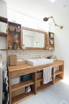 32 Brilliant Over the Toilet Storage Ideas that Make the Most of Your Space - The Trending House Craftsman Bathroom, Wood Bathroom, Washroom, Bathroom Furniture, Bathroom Interior, Small Bathroom, Wooden Furniture, Furniture Logo, Bathroom Curtains