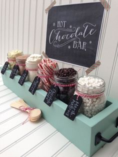 Hot Chocolate Bar for a Winter Party - plus some added liquid courage