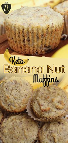 This sugar-free, keto friendly muffin recipe will blow you away. It is perfect f. - This sugar-free, keto friendly muffin recipe will blow you away. It is perfect for keto meal prep o - Low Carb Breakfast, Perfect Breakfast, Breakfast Recipes, Keto Breakfast Muffins, Breakfast Bars, Ketogenic Breakfast, Dessert Recipes, Recipes With Bananas Breakfast, Recipes Dinner