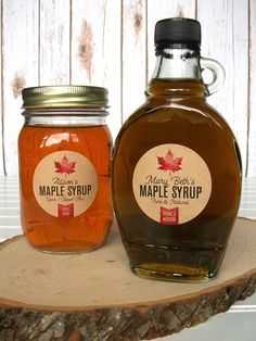 eeee2ca9826 Custom Kraft Maple Syrup Bottle Labels