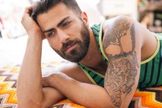Adam Ramzi by Wadley Photography. Many Men, Male Models, Tattoo Designs, Tumblr, Nude, Tattoos, Photography, Man Candy, Hair