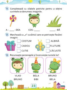 Clasa Pregătitoare : Aniversarea broscuței Alphabet Worksheets, Preschool Worksheets, Preschool Activities, Kids Education, Pre School, Kids And Parenting, Baby Love, Kids Learning, Montessori