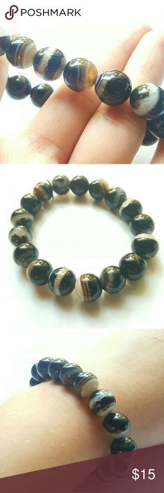 NEW!! Agate Stretch Bracelet Beautiful agate gemstones with so many different colors and designs. No two beads are the same! Creation Central  Jewelry Bracelets