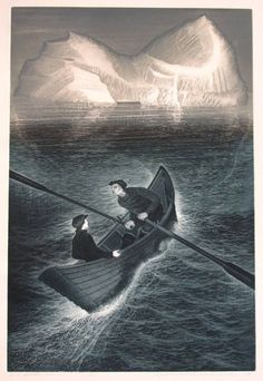 David Blackwood ~ His Father Dreams, 1985 (etching) Illustrations, Illustration Art, Science Fiction, Steampunk, Sea Art, Spring Art, Wood Engraving, Canadian Artists, Painting & Drawing