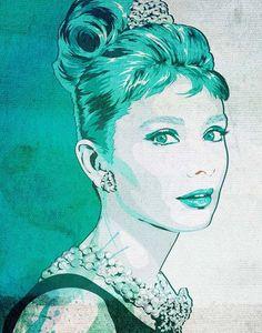 Audrey Hepburn Print   Breakfast At Tiffany's