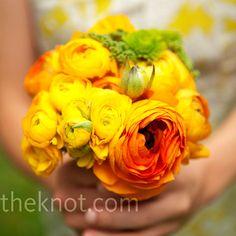 Pretty bridesmaid flowers