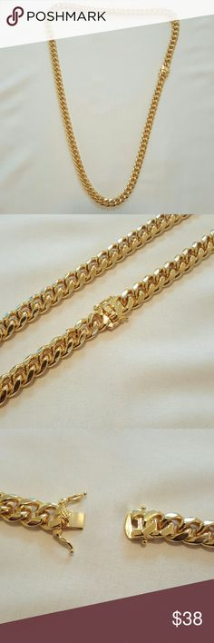 Two-Tone Gold Necklace Bracelet Mens Jewelry Wholesale 9MM Chain /& Link Bracelet Necklace Hiphop Sets Scrub Chain Gift S1949G