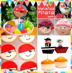 Mesas dulces saludables para fiestas infantiles | Pequeocio.com Pig Party, Party Time, Pirates, Seasons, Christmas Ornaments, Holiday Decor, Birthday, Food, Party Ideas