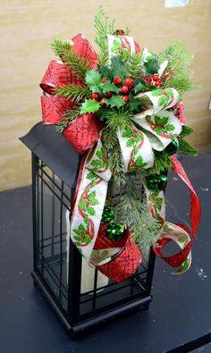 Christmas Lantern Swag Christmas Lantern Centerpiece Hoilday | Etsy