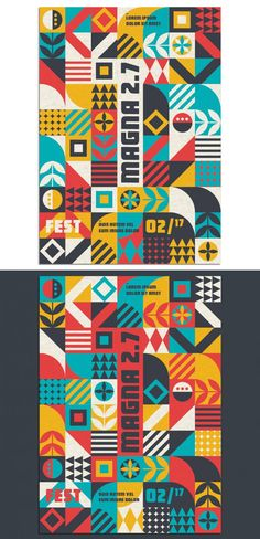 Check out this amazing series of geometric poster templates available as easy to use Adobe Illustrator files