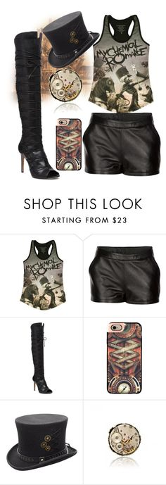 """""""My Chemical Romance"""" by mel-c-n on Polyvore featuring Mairi Mcdonald, Vince Camuto, Casetify, steampunk, bandtshirt, bandtee and polyvorecontest"""