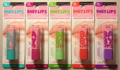 Maybelline Limited Edition Baby Lips Lip Balm ~ Set of 5