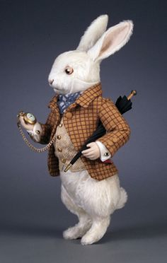 R. John Wright Presents: The White Rabbit from the Alice in Wonderland Collection - R. John Wright, Bennington, VT