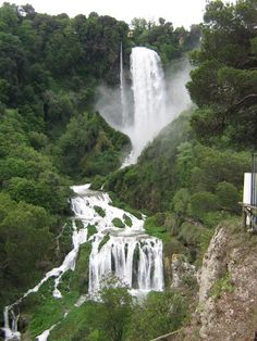 Cascate delle Marmore is the tallest man made falls in the world. There is a fee to see it. In the Umbria region of Italy.