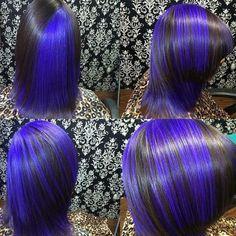image of WEAR IT TWO WAYS! Assymetric Color Using Pravana Vivids. #vivids #dimensionalcolor #haircolor #pravana