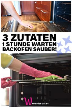 Mühelos den Backofen reinigen Free tip: Your oven will be cleaned in no time – with only three household remedies from your kitchen! # cleaning tips # household # tips Household Cleaning Tips, Cleaning Hacks, Healthy Cooking, Cooking Tips, Healthy Life, Cooking For Beginners, Free Tips, Clean House, Home Remedies