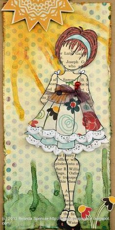 Feb DT - Prima Doll Stamp Card  Good Job DT.  Love the lace. mlr