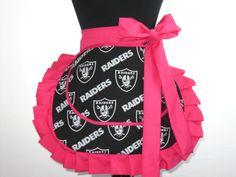 Women's NFL Oakland Raiders Apron by FantasyFootballLove on Etsy, $25.00