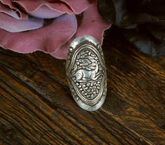 Lion Repoussee Ring  Sing Ge  Snow Lion Ring  Size by CosmicNorbu