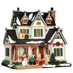 A nice countryside residence for your village collection - Product Type: Standard Lighted Building - Approx. size (H x W x D): 7.72 x 7.52 x 5.55 inches 19.6 x 19.1 x 14.1 cm