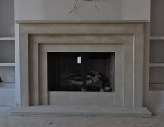 $2800 CAST STONE Fireplace Mantel - perfect for Contemporary, Modern or traditional style design  This mantel can be made in any size Color: natural