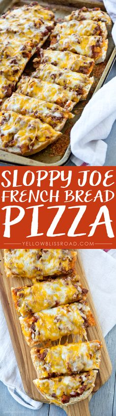 Sloppy Joe French Bread Pizza! Try making with Jimmy John's Day Old Bread