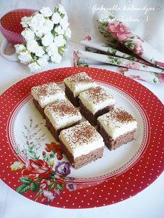 Krémes tejbegríz szelet Feta, French Toast, Deserts, Cheese, Dishes, Cookies, Breakfast, Cake, Crack Crackers