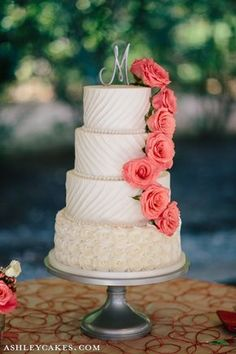 Wedding Gown Inspired Buttercream Cake with Icing Rosettes at The Sutherland