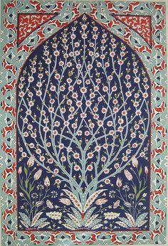 Tree of life Madhubani Art, Madhubani Painting, Turkish Art, Turkish Tiles, Islamic Art Pattern, Pattern Art, Kalamkari Painting, Persian Pattern, Scandinavian Folk Art