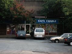 Cat's Cradle-- Classic venue in Carborro less than a mile from UNC's campus. Having hosted bands as diverse as Nirvana, Public Enemy, John Mayer, Joan Baez, and Iggy Pop, the Cat's Cradle has become a must-stop venue for premier music acts over the past several decades. With a capacity of 750 people, the Cat's Cradle allows concert-goers a chance to see established and up-and-coming bands alike in an intimate setting.